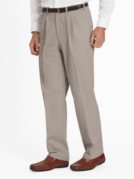 Adjust-A-Band Pleated-Front Wrinkle-Resistant Chinos Pants