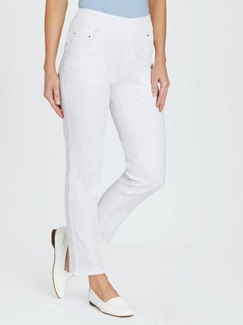 Flat Waist Washed Denim Jeans - Image 10 of 16