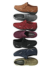 Classique Faux Suede Slip-On Shoes by Blair