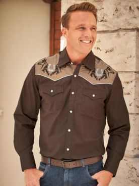 High Noon™ Snap-Front Embroidered Shirt