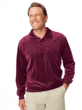 Irvine Park Banded-Bottom Velour Shirt