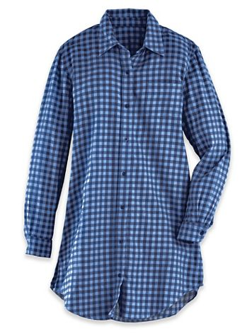 Plaid Flannel Big Shirt - Image 1 of 4