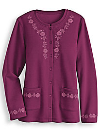 Embroidered Cardigan by Blair