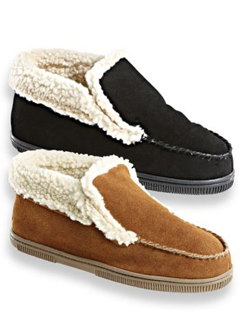 Scandia Woods Suede Boot Slippers - Image 1 of 4