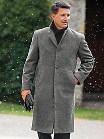 Men's Vintage Style Coats and Jackets Irvine Park Classic Wool-Blend Topcoat $169.99 AT vintagedancer.com