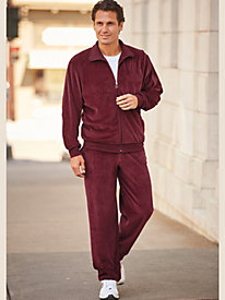 Irvine Park Solid Velour Jog Suit by Blair