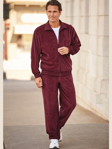 Irvine Park Solid Velour Jog Suit - Image 1 of 4