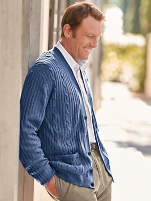 Men's Vintage Style Sweaters – 1920s to 1960s Cable Cardigan $49.99 AT vintagedancer.com