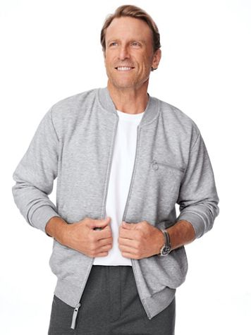John Blair® Four-Season Fleece Baseball Jacket - Image 1 of 12
