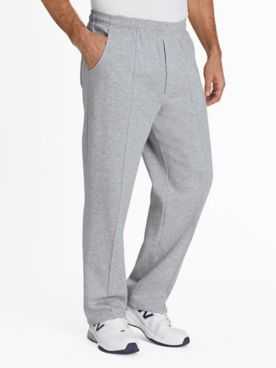 John Blair Relaxed-Fit Stitched-Crease Fleece Pants