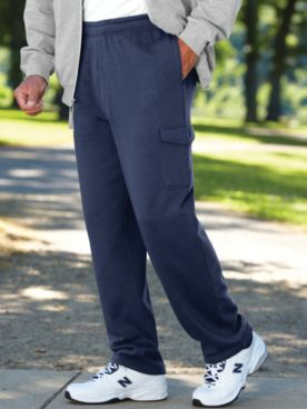 John Blair Relaxed-Fit Fleece Cargo Pants