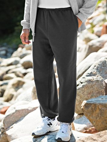 John Blair® Elastic-Hem Sweatpants - Image 1 of 5
