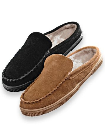 Scandia Woods Suede Scuff Slippers - Image 1 of 3