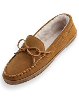 Scandia Woods Suede Moccasin Slippers