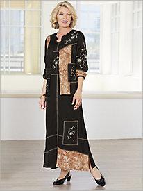 Floral Vignette Jacket Dress
