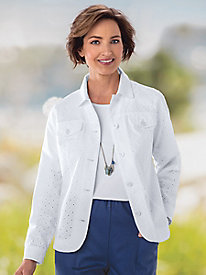 Eyelet Jean Jacket by Koret