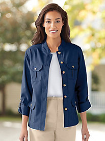 Twill Safari-Style Jacket