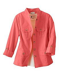 Twill Safari-Style Jacket