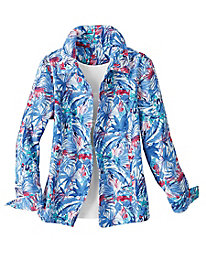 Palm Leaf Print Jacket by Koret