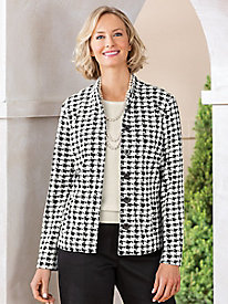 Koret Houndstooth Knit Jacket