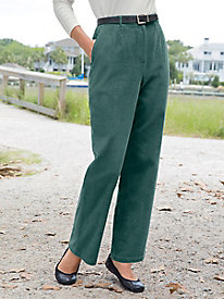 Wide Wale Corduroy Fly-Front Pants