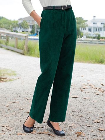 Wide Wale Corduroy Fly-Front Pants - Image 1 of 1