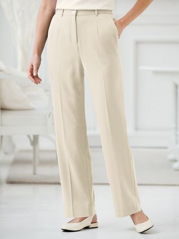 Look-of-Linen Fly-Front Pants by Koret® - Image 1 of 1