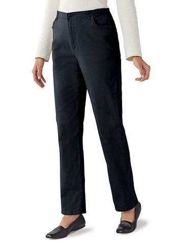 Denim 5-Pocket Jeans With Side Elastic - Image 1 of 12