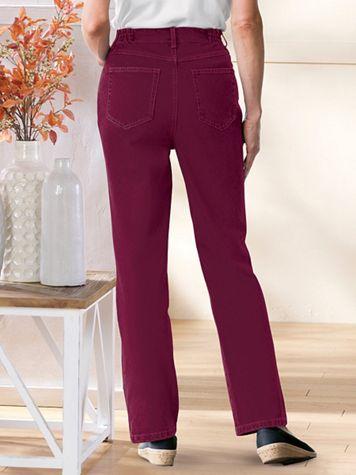 Denim 5-Pocket Jeans With Side Elastic - Image 1 of 4
