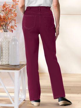 Denim 5-Pocket Jeans With Side Elastic