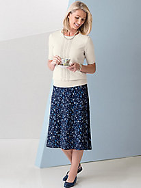 Koret® Solid or Print Knit Skirt