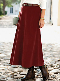 Suedecloth Pull-On Boot Skirt