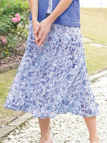 Flared Floral Skirt - Image 1 of 10