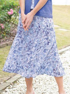Flared Floral Skirt