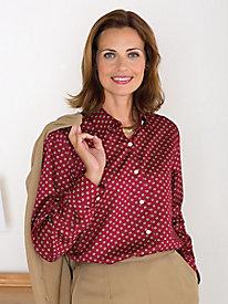 Wrinkle-Free Foulard Print Shirt by Foxcroft