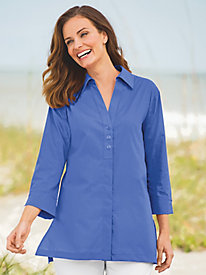 Button-Back Shirt by Foxcroft®