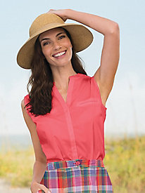 Sleeveless Shirt by Foxcroft®