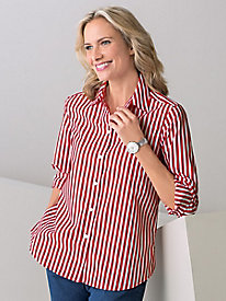 Club Stripe Shirt by Foxcroft®