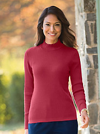 Silk-Blend Mockneck Sweater