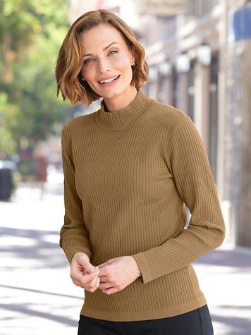 Silk-Blend Mockneck Sweater - Image 1 of 2