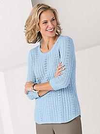 Koret Curved Hem Sweater by Tog Shop