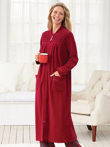 Velour Smocked Robe - Image 1 of 1