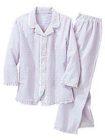 Plaid Seersucker Pajamas