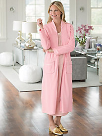 Quilted Velour Long Robe