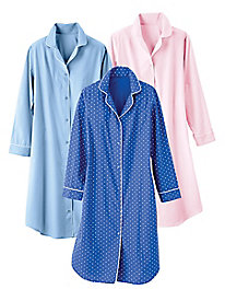 Cotton Broadcloth Nightshirt