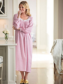 Striped Flannel Nightgown by Eileen West