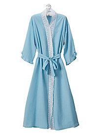 Seersucker Ballet Wrap Robe