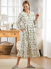 Le Cera Minted Rose Cotton Robe