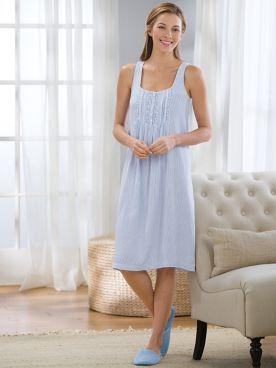 Carol Hochman Pinstripe Nightgown