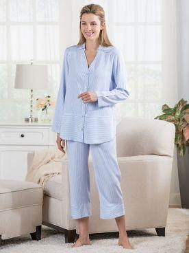 Carol Hochman Pinstripe Pajamas